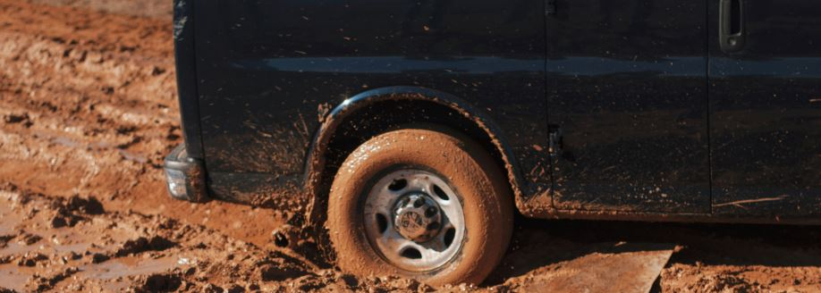 Broken car wheel
