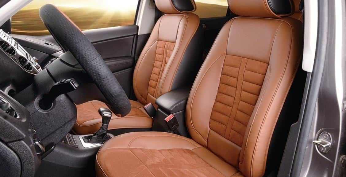 Laxious brown leather interior