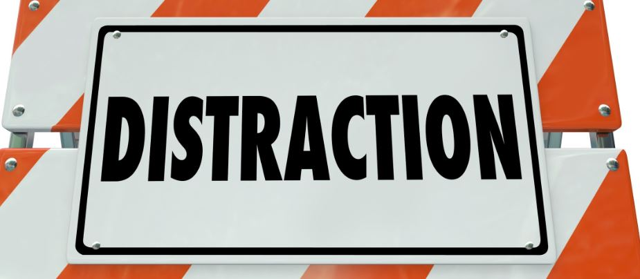 Distruction street sign board
