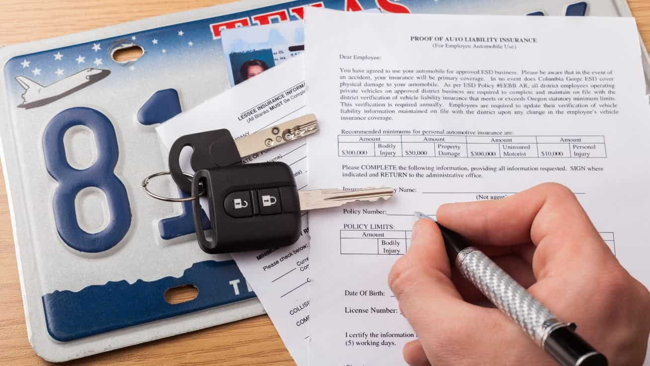 Registration document for owing a car