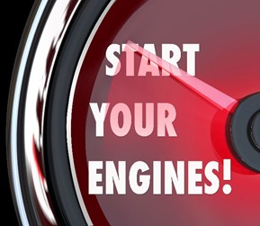 Start your engine sign